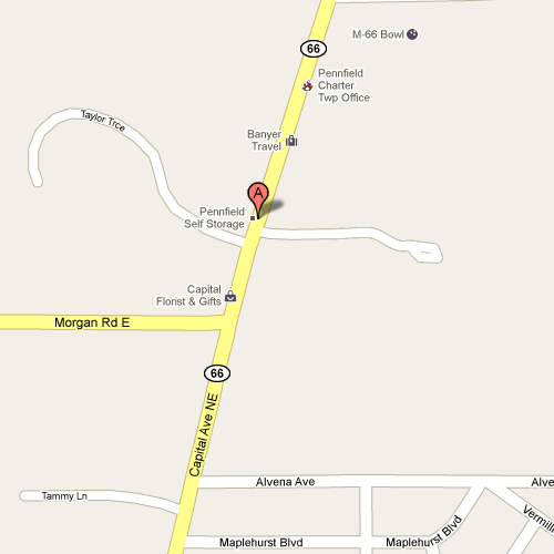 Map to Pennfield Self Storage